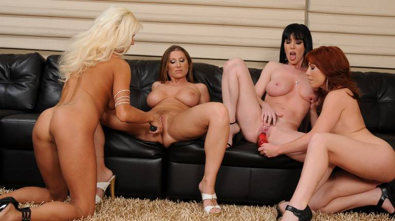 Hottest group lesbian action that you'll see!